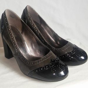 MOSSIMO Mobster Style Black & Grey Pumps